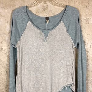 Free People   Layered Fray Distressed Thermal